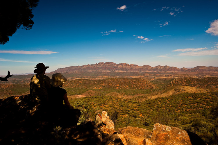 View over the majestic Flinders Ranges, Arkaba Station, South Australia