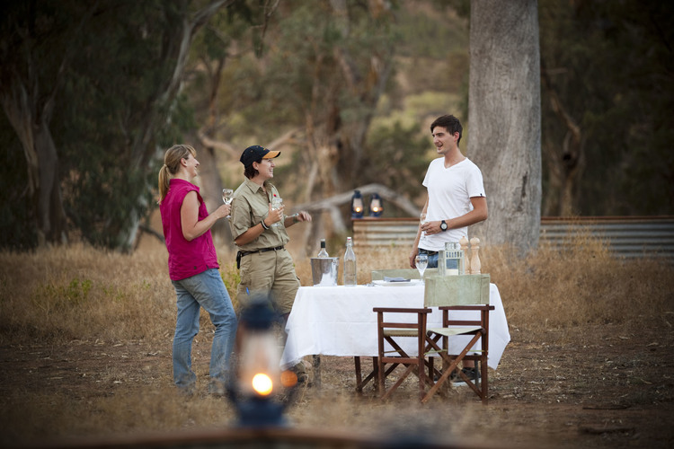 Outback luxury dining on the Arkaba Walk, Flinders Ranges, South Australia