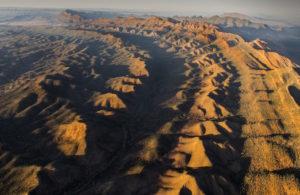 An aerial shot near Arkaba, Flinders Ranges