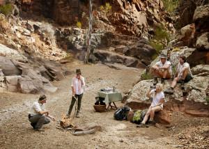 Sleep under the stars in a luxury swag on the Arkaba walk, South Australia