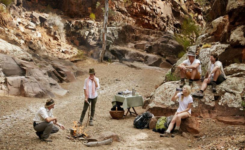 A picnic stop along the Arkaba Walk