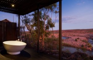 Your private outdoor bath at El-Questro Homestead in The Kimberley