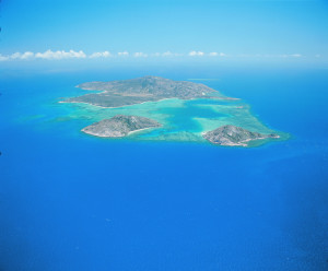 Flying over to Lizard Island on the Great Barrier Reef