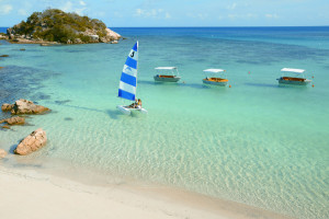 Water-based activities at Lizard Island Beach Club on the Great Barrier Reef