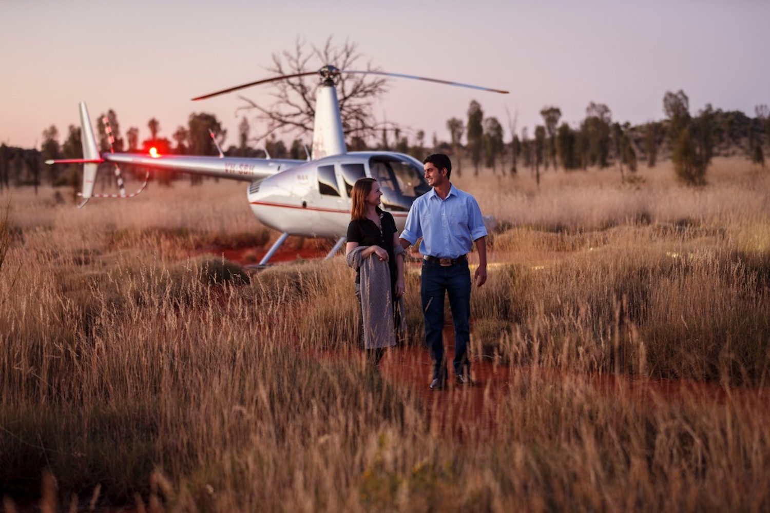 One of the unique and exclusive Australian experiences is the Longitude 131 Uluru helicopter experience