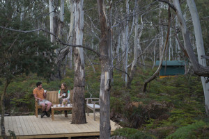 Relaxing in the wilderness on the Maria Island Walk