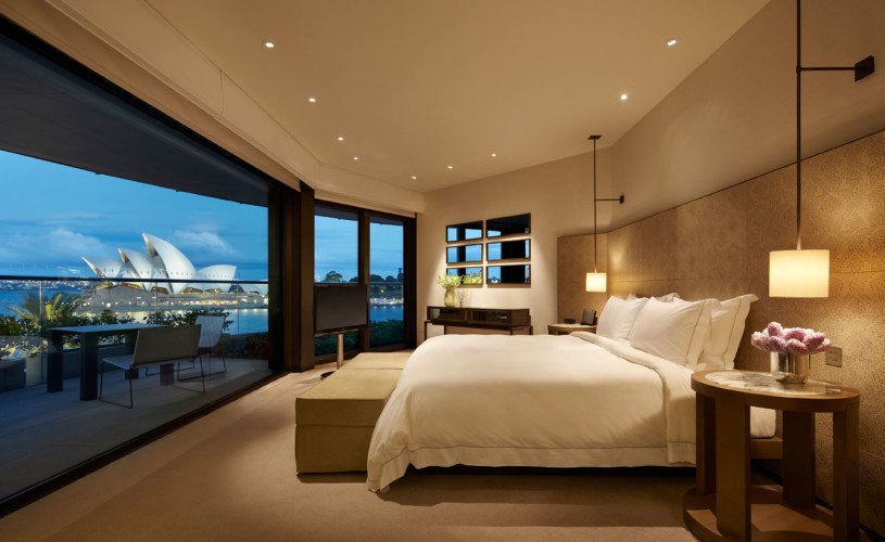View the Opera House from your suite at the Park Hyatt, Sydney