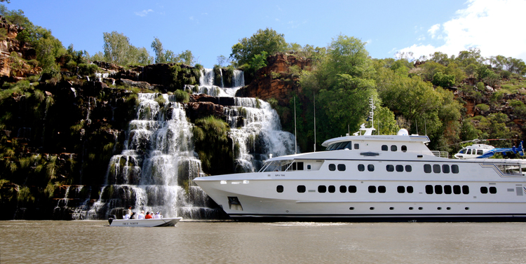 Visit where the big ships can't go on the True North - Kimberley Wilderness Cruise