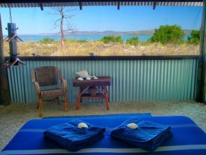 Rustic Luxury in Western Australia at Day bed at Kimberley Coastal Camp