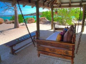 Day bed at Kimberley Coastal Camp