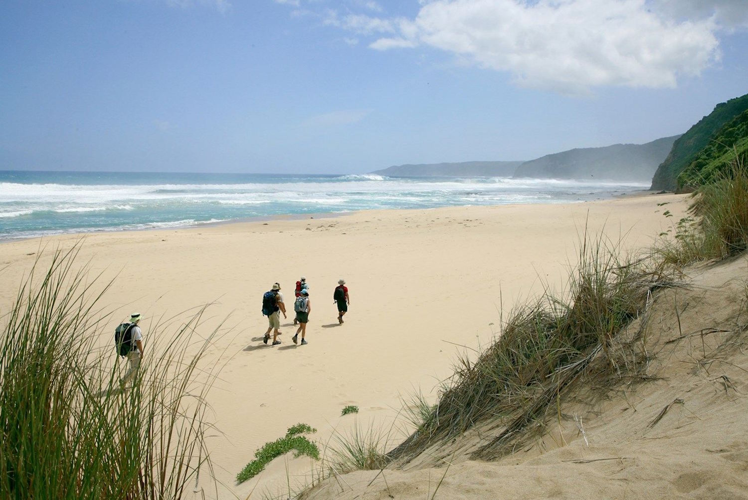 Johanna Beach walkers - Great Ocean Road