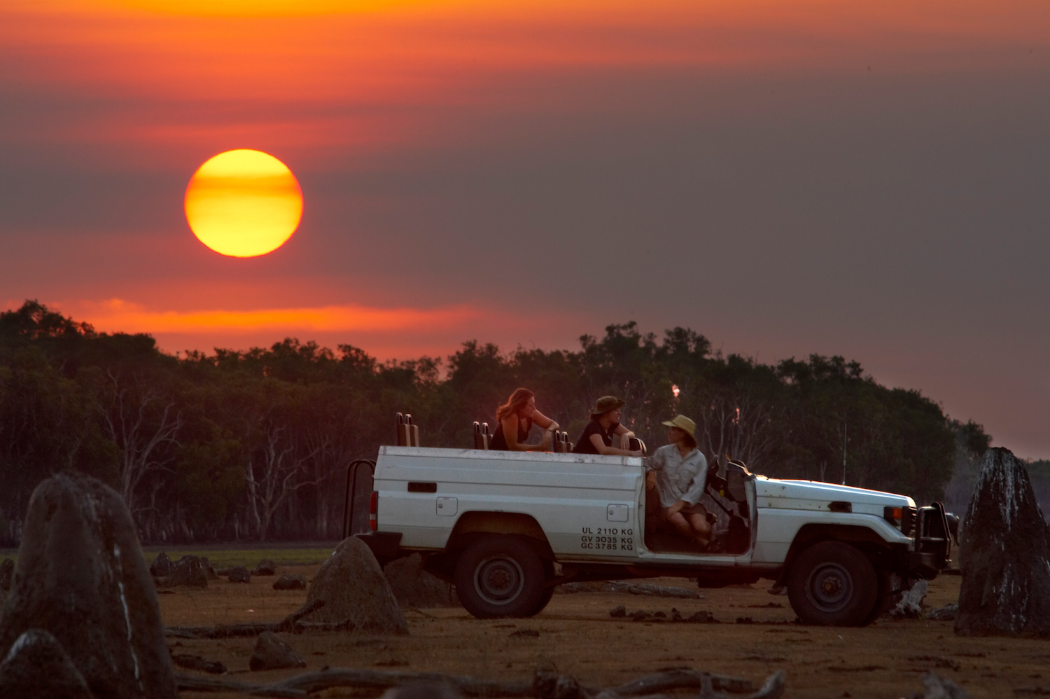 One of the unique and exclusive Australian experiences is a sunset game drive at Bamurru Plains