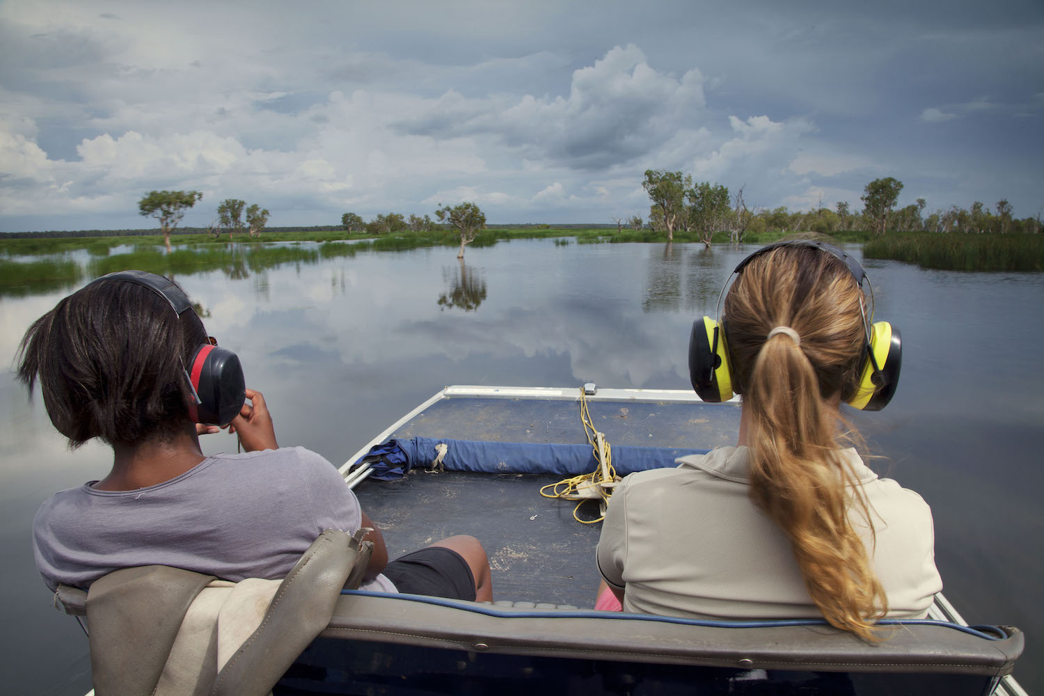 View wildlife on an airboat safari with a luxury vacation in Australia at Bamurru plains