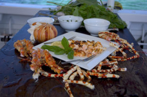 Dine on freshly caught seafood at Haggerstone Island