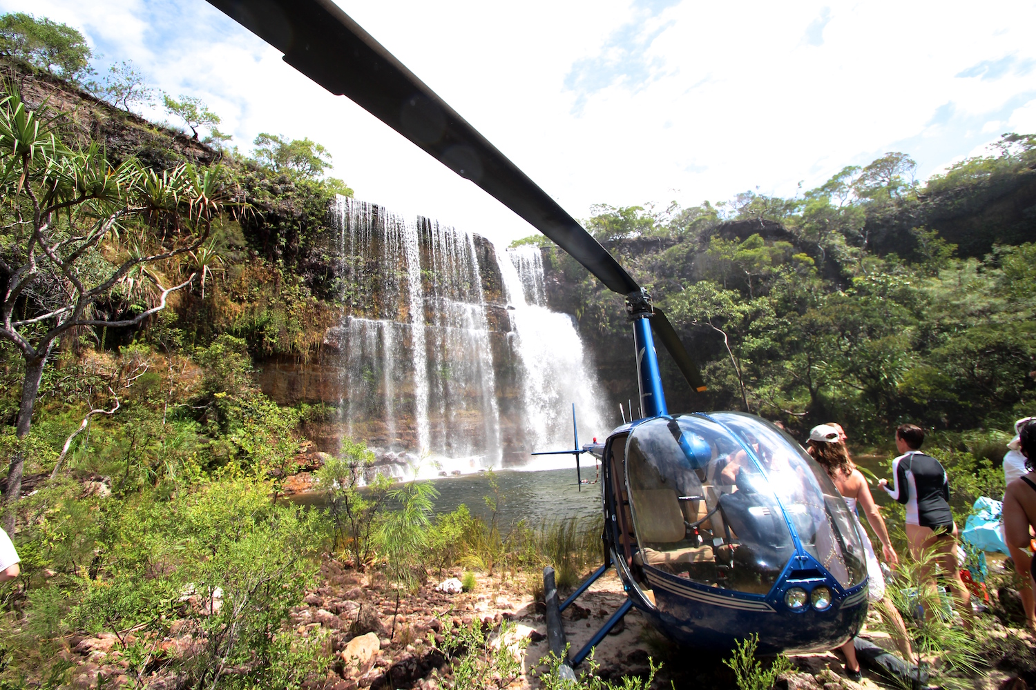 On your luxury vacation in Australia go waterfall exploring on Haggerstone Island