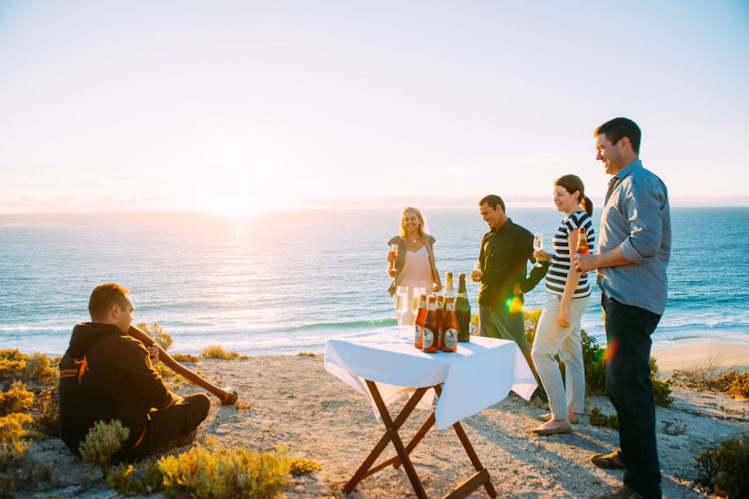 Sunset, didgeridoo and drinks on the Margaret River Cape to Cape Walk