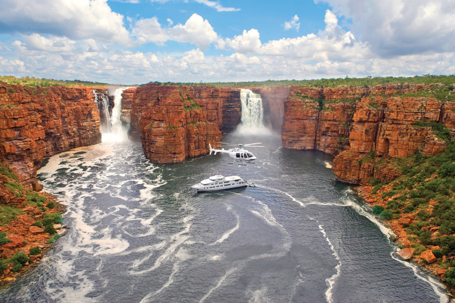 One of the unique and exclusive Australian experiences is a cruise with True North along the Kimberley Coast