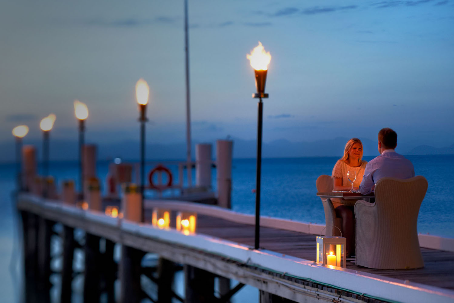 One of the unique and exclusive Australian experiences is Dining with the tides at Orpheus Island