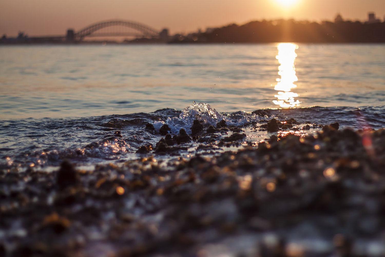 Sunset over Sydney Harbour Bridge from Milk beach, Vaucluse Image credit: Elisa Bohle