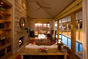 One of the suites at Emirates One&Only Wolgan Valley in the Blue Mountains