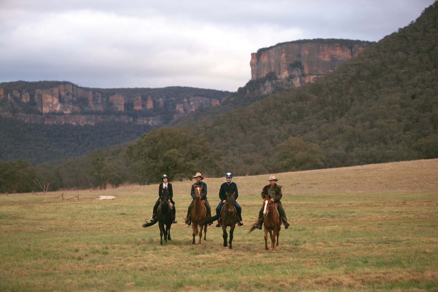 View wildlife by horseback at Emirates Wolgan Valley Blue Mountains