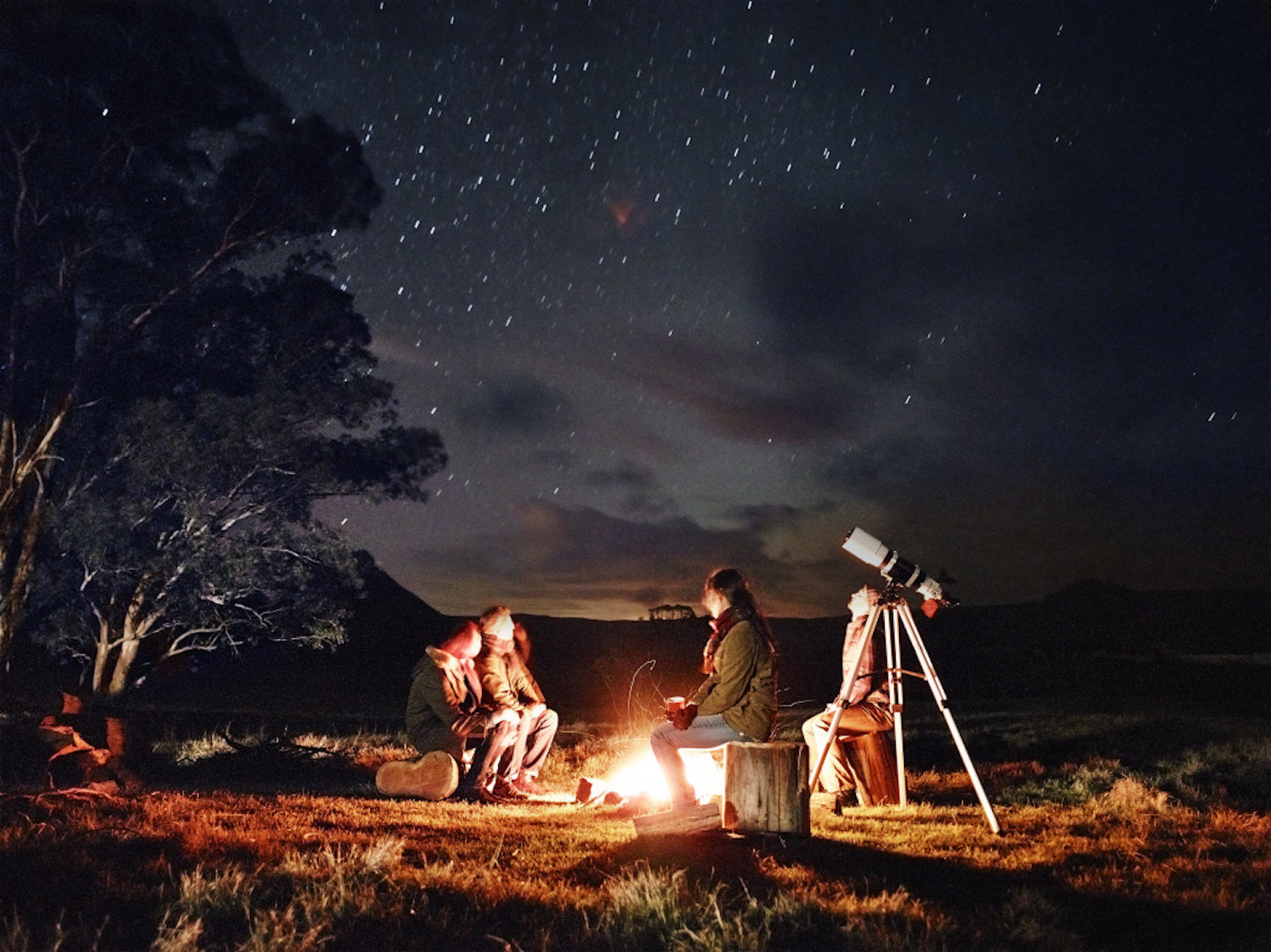 Activities include stargazing by the campfire at Emirates One&Only Wolgan Valley i
