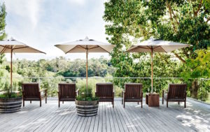 The deck at Lake House, Daylesford