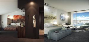 Rooms at the new MacQ01