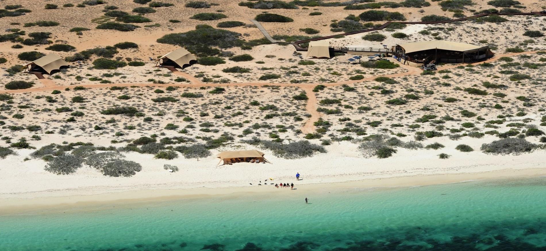 The luxury camp of Sal Salis