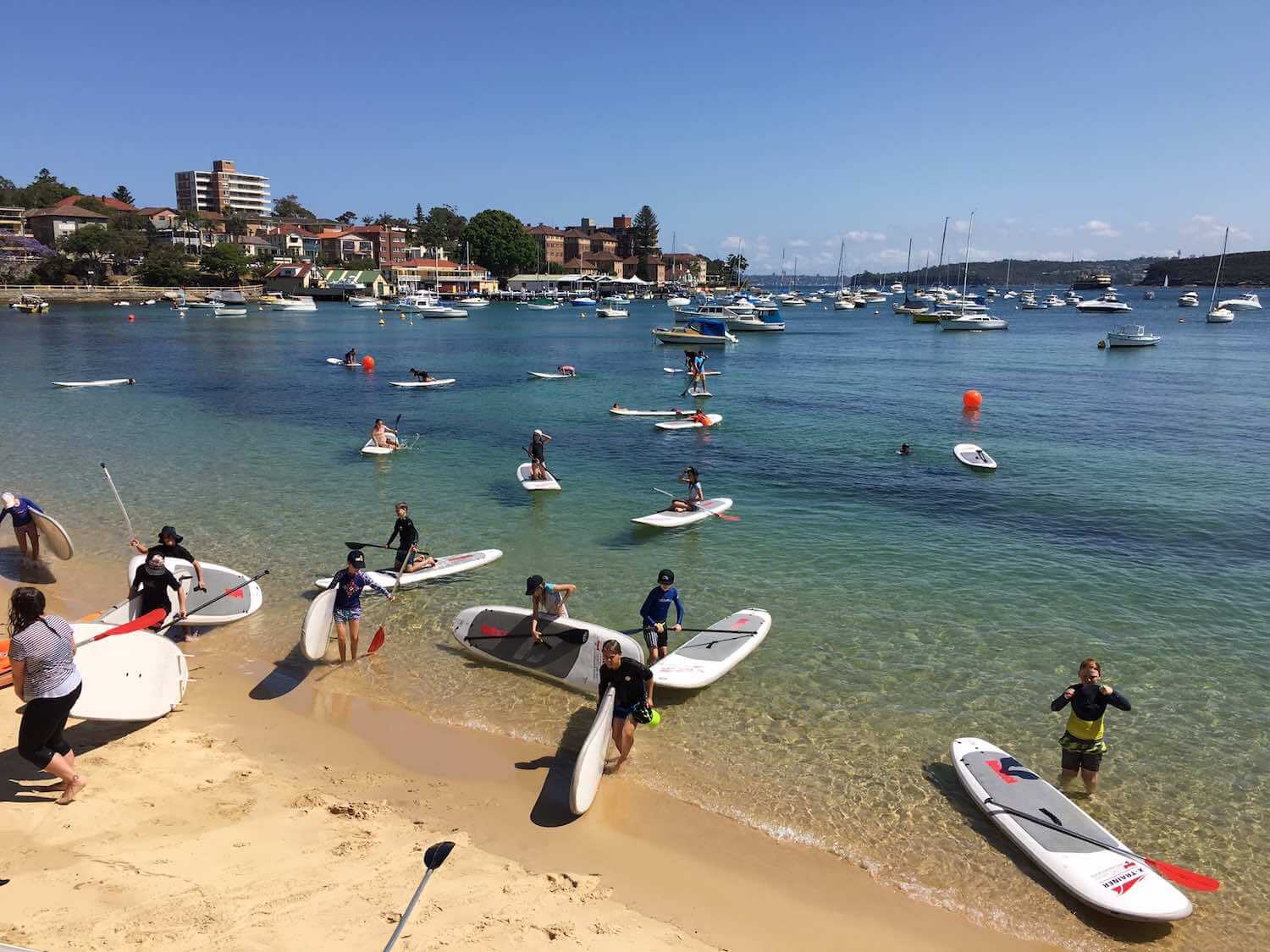 Experience Sydney harbour like the school children do - by stand-up paddle board