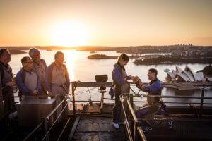 A magical sunset proposal on BridgeClimb