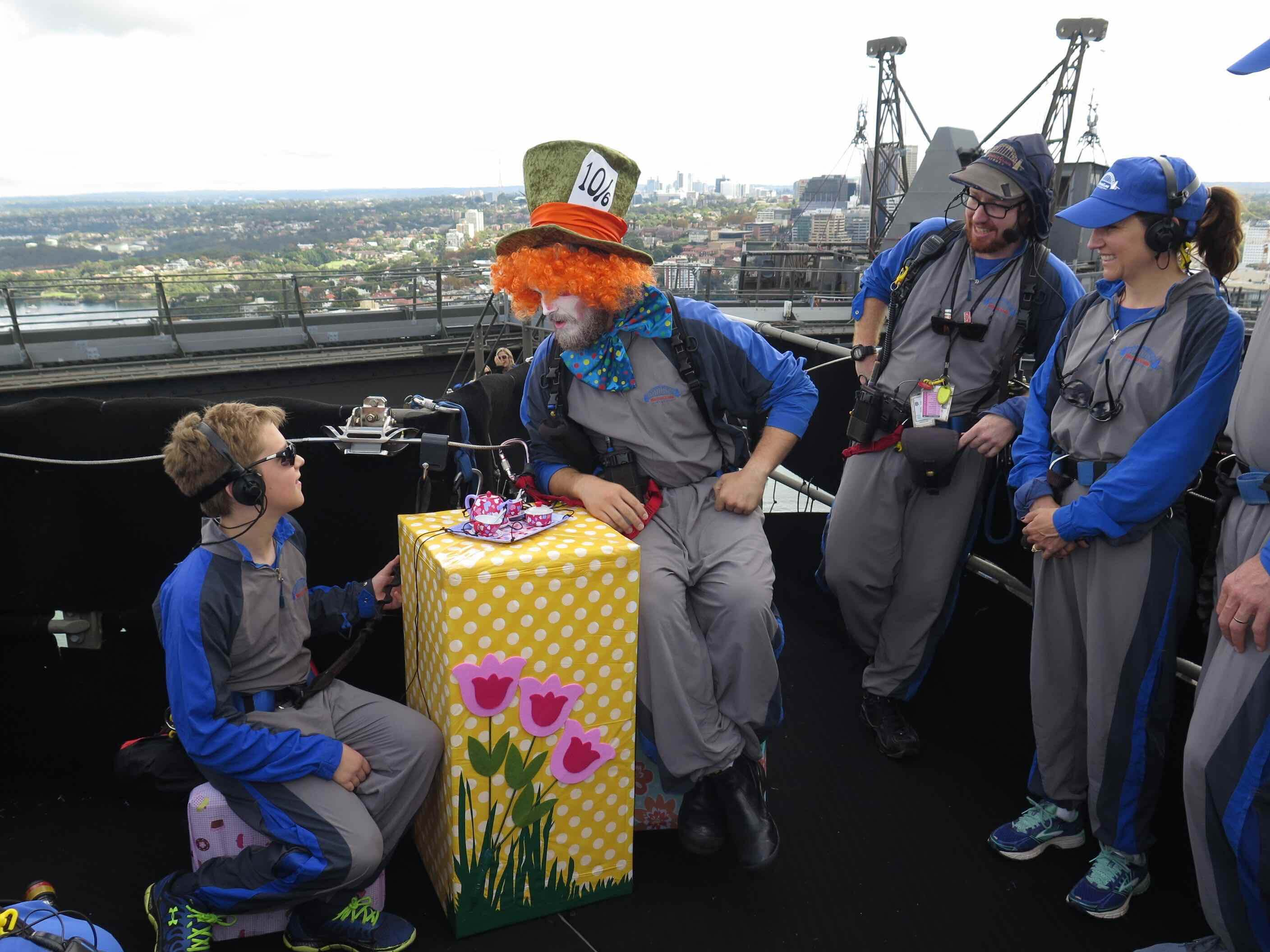 A Mad Hatter Tea Party on Bridgeclimb