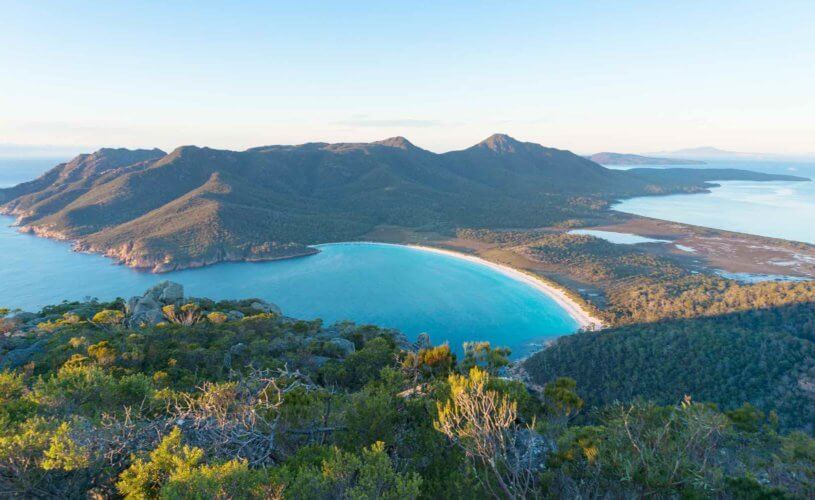 Wineglass bay in Freycinet National Park