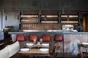 Polperro Bistro with indoor and outdoor dining overlooking the vineyards