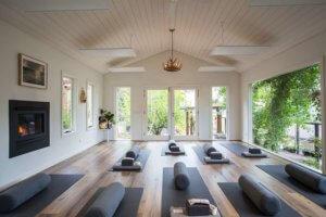 HotHut yoga at Polperro