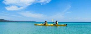 Kayak to Hazards Beach in Freycinet National Park